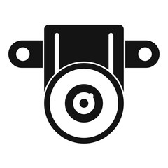 Action small camera icon. Simple illustration of action small camera vector icon for web design isolated on white background