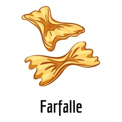 Farfalle icon. Cartoon of farfalle vector icon for web design isolated on white background
