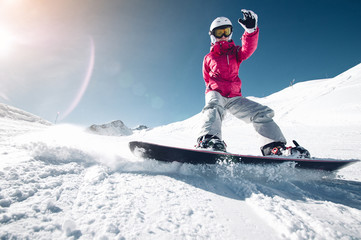 Snowboarder on .the sloap