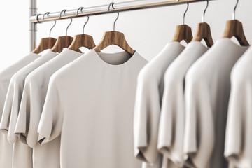 Row of white shirts