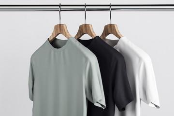 Empty t-shirts on hanger