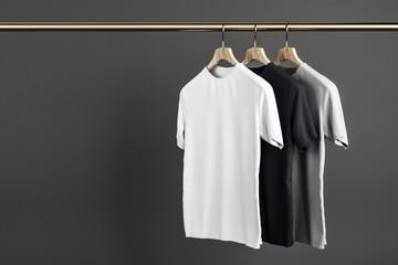 Empty shirts on hanger