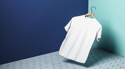 Levitating white tshirt