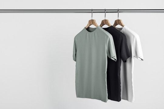 Empty tees on hanger
