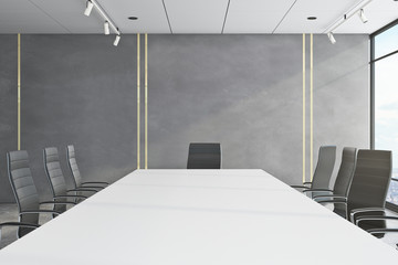 Bright meeting room with empty copyspace