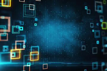 Blurry binary code wallpaper