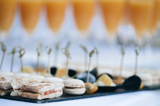 Aperitifs class and elegant for reception and quality events
