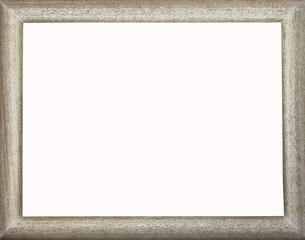 marco de madera blanco envejecido
