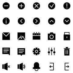 Interface vector icon set