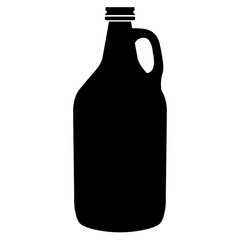 Beer Growler Bottle Container Vector Illustration Icon Symbol Graphic