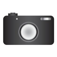 Simple Shaded Camera Vector Illustration Icon Symbol Graphic