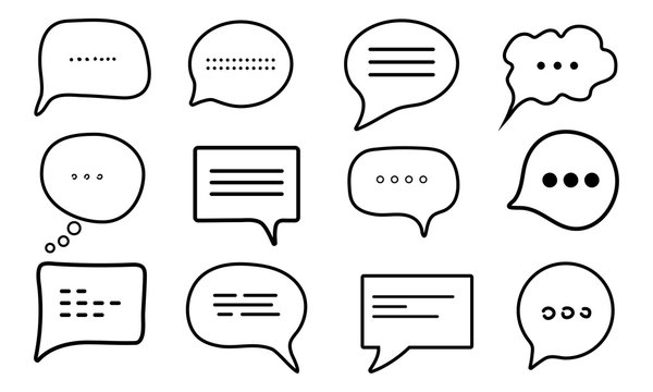 Chat message set icon. Vector illustration. Eps 10