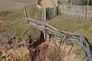 Destroyed Fence by naturals elements