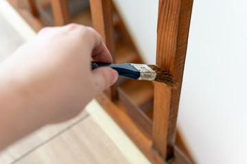 Holzpflege - Geländer streichen