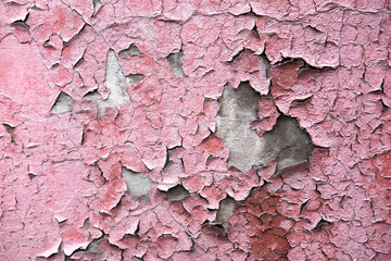 The texture of the concrete wall from which the paint peeled off. Texture of the destroyed concrete wall for design.