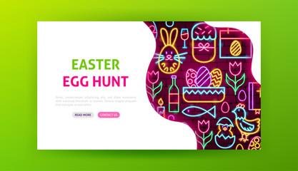 Easter Egg Hunt Neon Landing Page
