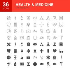 Health Medicine Line Web Glyph Icons