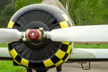 Papiers peints Rouge, noir, blanc old aircraft close up
