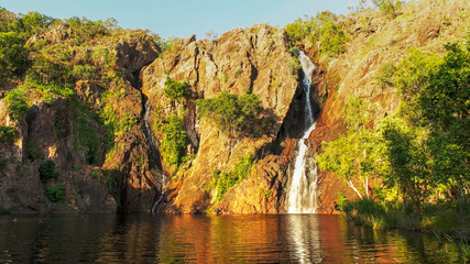 beautiful wangi waterfalls in litchfield national park