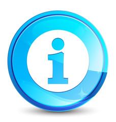 Info icon splash natural blue round button