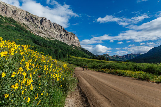 Biking backroads of Colorado
