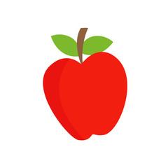 Apple. Red apple. Fruit. Vector illustration. EPS 10.