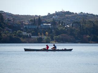 View of San Roque Lake, Villa Carlos Paz, Cordoba, Argentina.