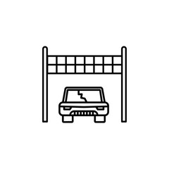 starting point, car, racing icon. Element of motor sport for mobile concept and web apps icon. Thin line icon for website design and development