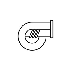 turbo icon. Element of motor sport for mobile concept and web apps icon. Thin line icon for website design and development