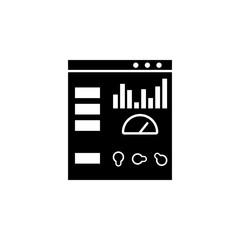 Web development, admin control panel icon. Element of web development icon. Premium quality graphic design icon. Signs and symbols collection icon for websites, web design