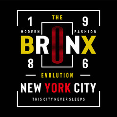 bronx-typography-design-for-t-shirt---vector-illustration