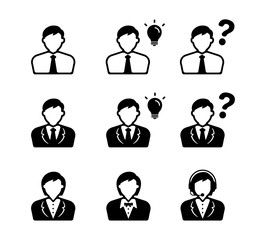 Office worker / Business person icon set (male,female)