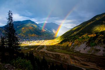 Double Rainbow Over Silverton, Colorado