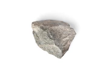 Sauna stones isolated on white background.