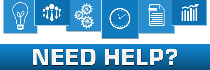 Need Help Business Symbols Blue On Top Horizontal