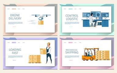 Warehouse Cargo Distribution. Logistic Service Set