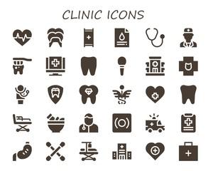 clinic icon set