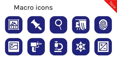 macro icon set
