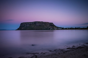 Dusk at the stunning rock formation known as the Nut in north west Tasmania, Australia Wall mural