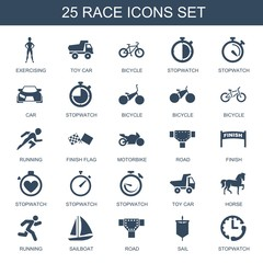 25 race icons