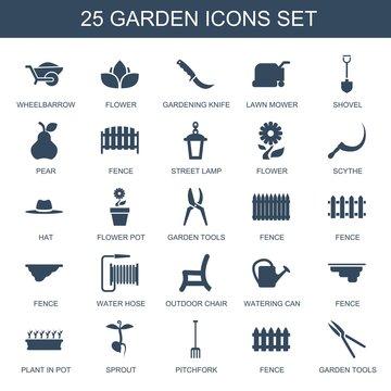 25 garden icons