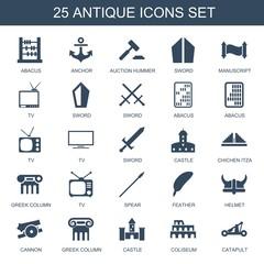 25 antique icons
