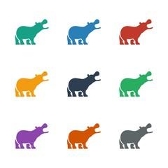 hippopotamus icon white background