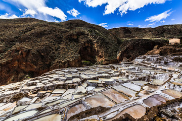Salt production in the Peruvian Andes