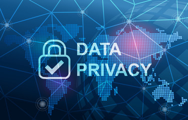 Data Privacy Protection Compliance Concept Background