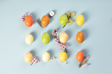 stylish easter flat lay