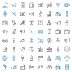 broadcast icons set