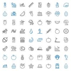 diet icons set