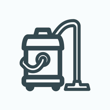 Washing vacuum cleaner icon. Commercial vacuum cleaner vector icon