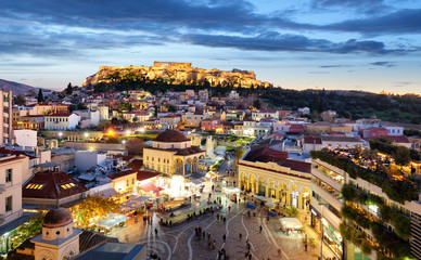 Athens - Acropolis at night, Greece